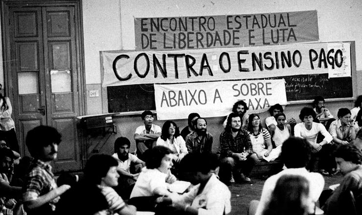 <strong> Encontro da Libelu, </strong> organização do movimento estudantil que dirigiu o DCE Livre da USP nos anos 1970