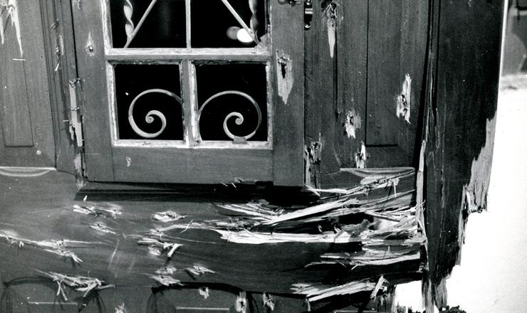 <strong> Marcas do ataque </strong> ao aparelho do PCdoB onde ocorreu a Chacina da Lapa, em S&atilde;o Paulo, 16 de dezembro 1976&nbsp;