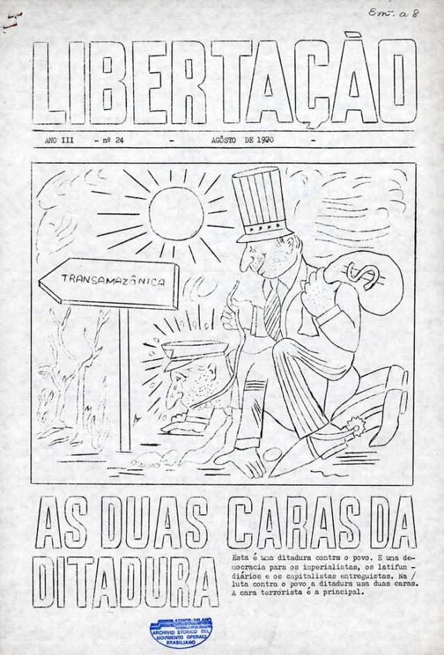 """""""Libertação"""", publicação da Ação Popular Marxista Leninista (APML)"""