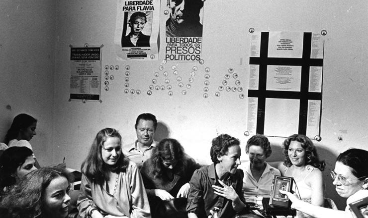 <strong> Entrevista de Flavia Schilling </strong> na sede do Comitê Brasileiro pela Anistia, em São Paulo, em 17 de abril de 1980