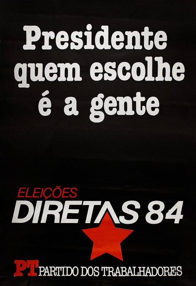 Cartaz do Partido dos Trabalhadores