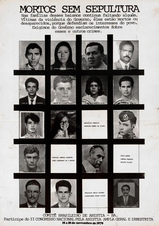 Cartaz da seção baiana do Comitê Brasileiro de Anistia divulga o 2° Congresso Nacional pela Anistia