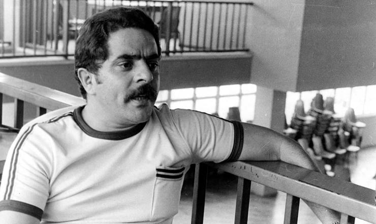 <strong> Luiz In&aacute;cio da Silva, </strong> o Lula, presidente do Sindicato dos Metal&uacute;rgicos de S&atilde;o Bernardo e Diadema, em 1977