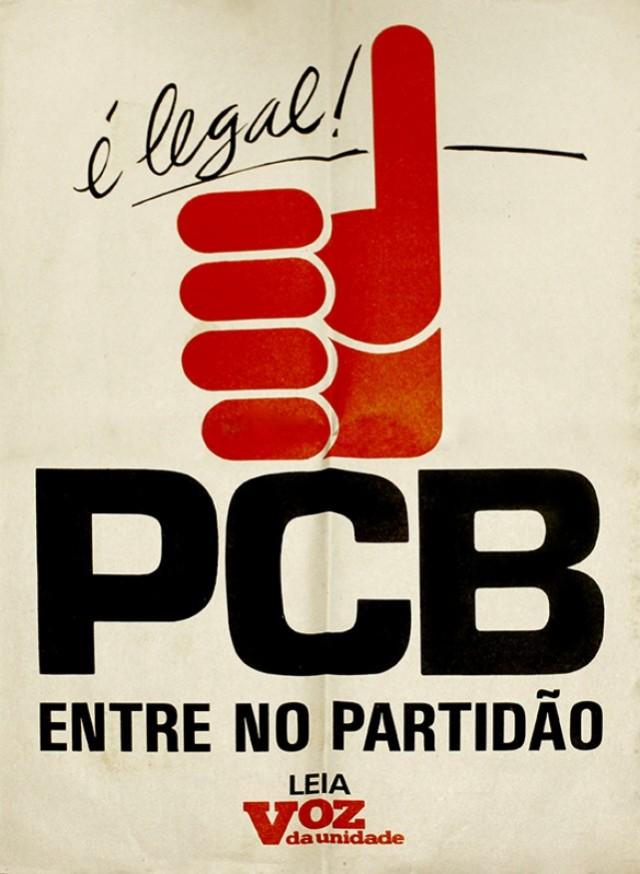 Cartaz comemorativo da legalização do PCB