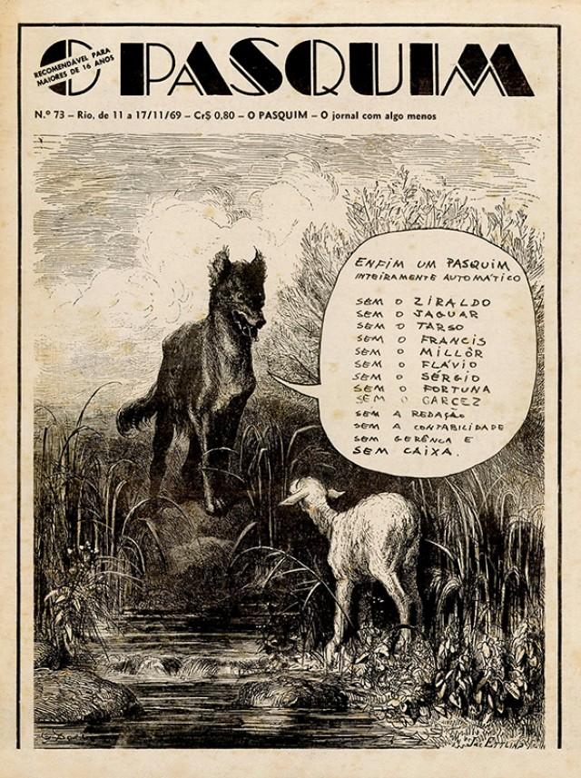 """Ilustração de Gustave Doréusa metáfora paradenunciar a prisão dos jornalistas de """"O Pasquim"""""""