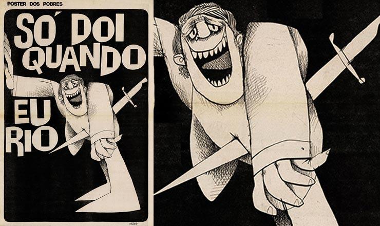 <strong> Charge de Ziraldo</strong> &nbsp;em &quot;O Pasquim&quot; de 14 de janeiro de 1971