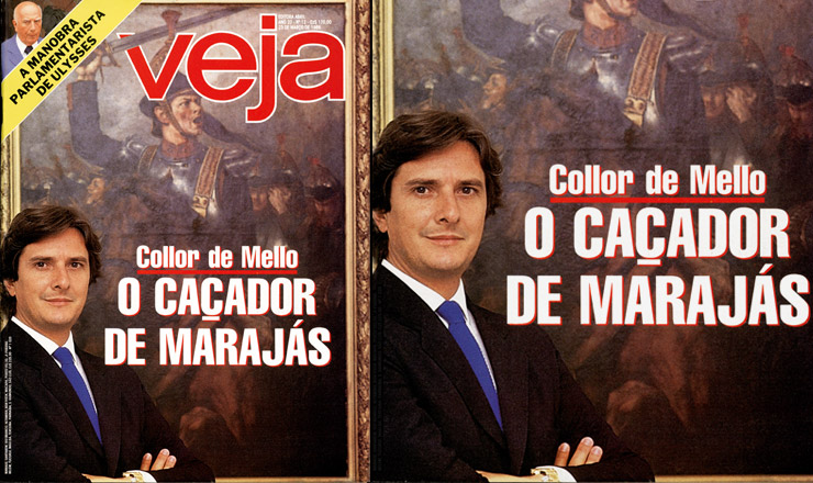 <strong> Capa da revista Veja, </strong> com chamada para reportagem sobre o governador de Alagoas, Fernando Collor de Mello