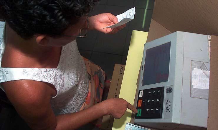 <strong> Eleitora de São Luís </strong> vota pela primeira vez em urna eletrônica