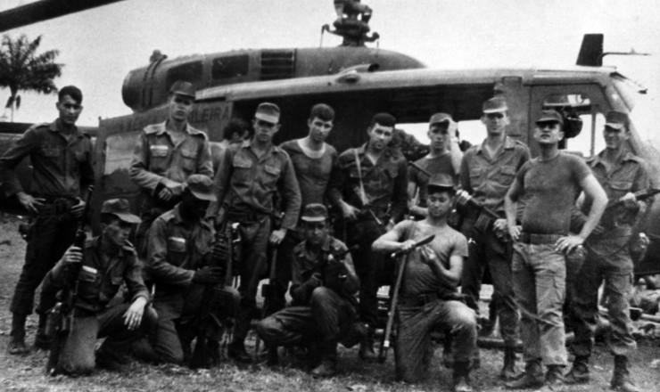 <strong> Soldados da a&ccedil;&atilde;o repressiva </strong> das For&ccedil;as Armadas na regi&atilde;o do Araguaia