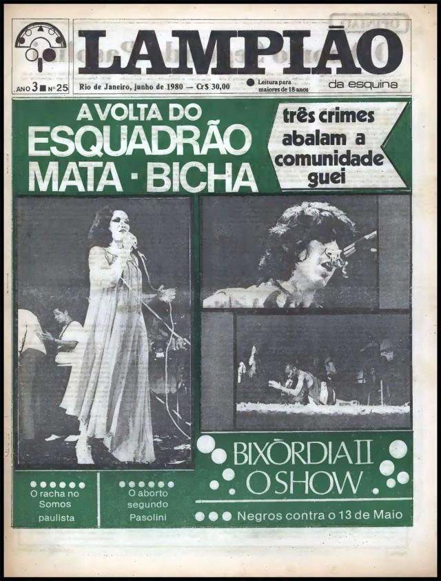 Edição de junho de 1980 denuncia crimes contra homossexuais
