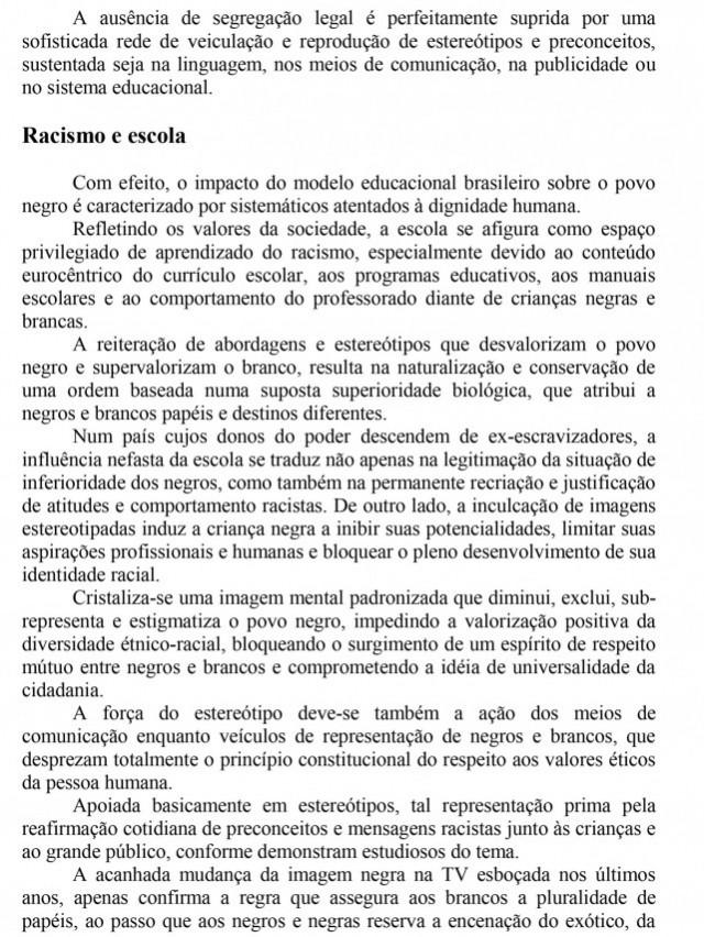 Documento entregue pelo movimento em novembro de 1995