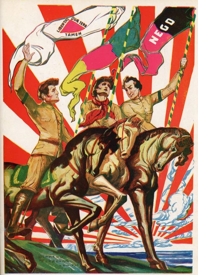 Revolução de 1930 em Minas Gerais, Rio Grande do Sul e Paraíba. Alegoria de Oswaldo Teixeira.